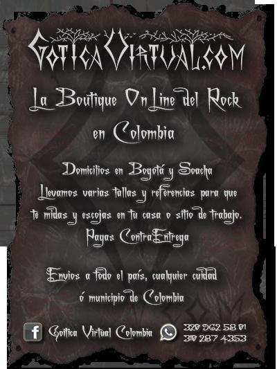 tienda ropa gotica metalera dark store bogota colombia rock punk venta por mayor gotica virtual envios manizales caldas funza cauca quindio pasto mosquera colombia