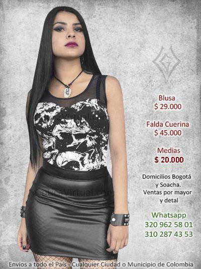 110f04f20 Faldas rockeras metaleras drill algodon velo domicilios en Bogota y ...