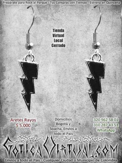 aretes rayos negros accesorios ventas online envios a todo  el pais cali medellin bucaramanga huila sucre rioacha risaralda pereira santander colombia