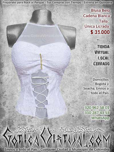 blusa velo cadena blanca algodon bloda mujer femenina bonita hermosa medellin cali popayan manizales neiva envios todo el pais colombia