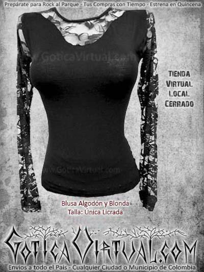 blusa blonda licrada manga larga algodon negra hermosa bonita barata economica bogota envios todo el pais ventas online cali medellin cucuta narino neiva manizales popayan cartago colombia