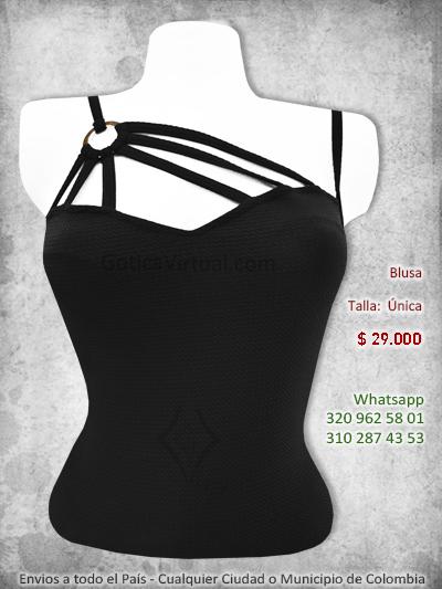 blusa diseno exclusivo sexy erotica negra rock metal boutique bogota medellin sincelejo armenia pasto colombia