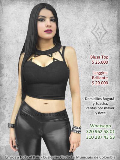 7172de9bb Blusa top de tirantes - Bogota Colombia. blusa algodon negra licrada  abierta destapada sexy muy la mejor tienda colombia bogota rock metal  metaleros