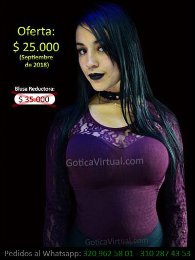 34a406e990f6 blusa morada reductora economica blonda manga larga chica oferta promocion  venta online bogota huila sincelejo bucaramanga