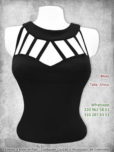 blusa negra tiras pecho escote bonita economica bogota domicilios envios soacha americas bosa suba salita chapinero colombia