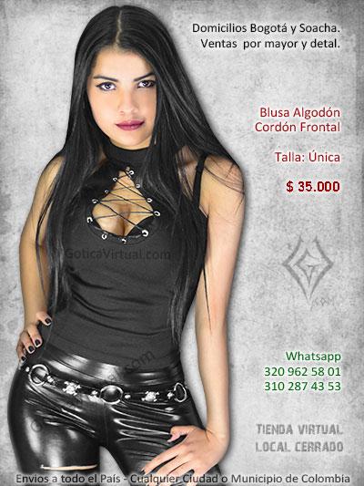 e146215c9 blusa algodon cordon frontal venta online rock metal bogota cali sincelejo  valledupar mosquera yopal casanare. Blusa Algodón Cordón - Envios Colombia