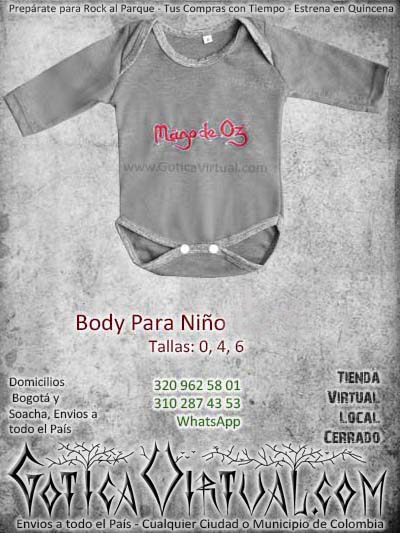 Body bebe gris claro algodon mago de oz babys envios Bogota colombia Medellin Cali Pereira Manizales Cucuta