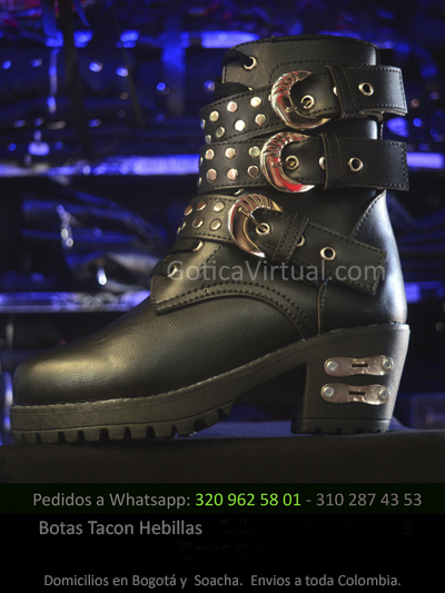 bota tacon hebillas taches femenina tienda online rock metal venta bogota cauca huila bucaramanga villeta girardot colombia