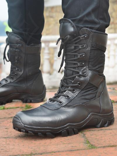 lindas botas militares lona cuero cordon graduable velcro ajustables suela comoda negro mate envios nacionales domicilios bogota soacha