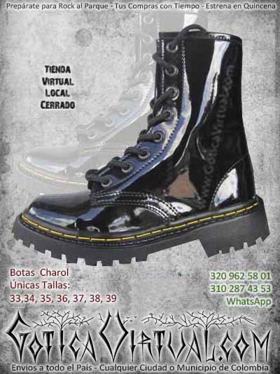 botas charol negras cortas bonitas bodega economicas baratas ventas online envios todo el pais medellin cucuta neiva sucre villavicencio colombia