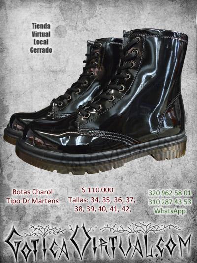 botas charol negras oscuras metaleras rockeras bogota punk domicilios ventas envios calim edellin manizales santander neiva colombia