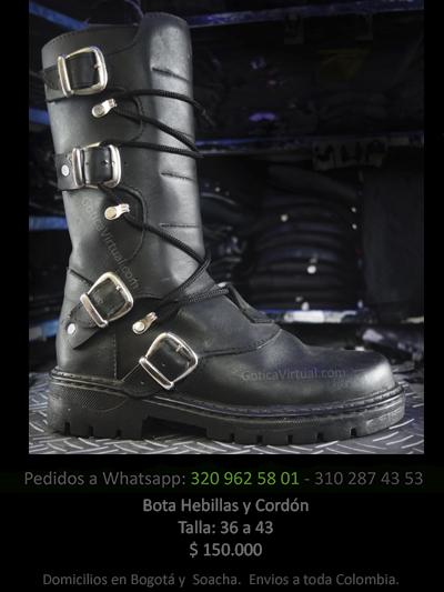 botas cordon hebillas masculinas tienda online rock metal bogota manizales armenia quindio pasto yopal cauca colombia