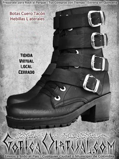 botas hebillas dama mujer negras metaleras rockeras bogota ventas online envios todo el pais medellin cucuta neiva tunjan riocha colombia