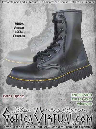 botas negras cordones rockeras metaleras bogota envios todo el pais cali medellin rioacha narino cauca colombia