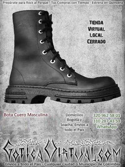 botas cuero masculinas hombre punta de acero negras cordones ventas online envios todo el pais medellin sucre riocha manizales popayan ibague colombia