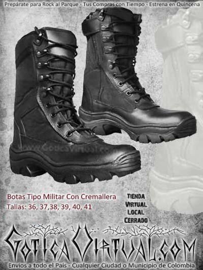 botas tipo militar negras cremallera metaleras hombre masculino bogota envios todo el pais ventas online cali medellin cucuta narino neiva manizales colombia