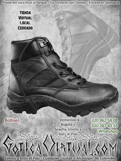 botines negros zapatillas cordones bogota envios todo el pais ventas online bodega cali medellin cucuta narino neiva cauca colombia