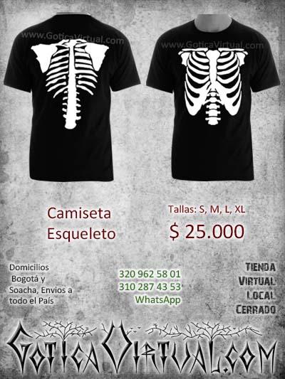camisa camiseta esqueleto huesos negro estampado stencil domicilios bogota soacha cucuta pasto medellin santander