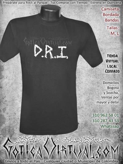 camiseta dri hombre bordada negra venta online domicilios bogota envios colombia
