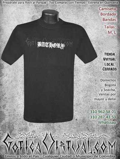 camiseta bathory hombre bordada negra venta online domicilios bogota envios colombia