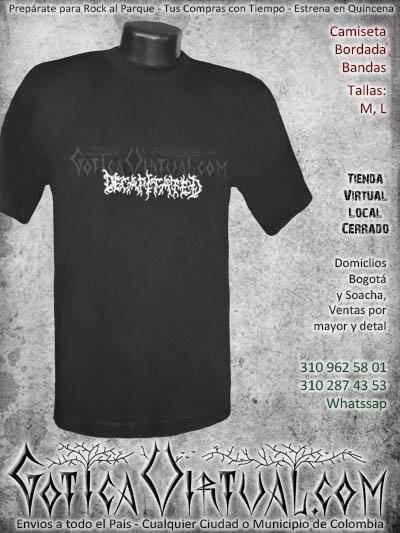 camiseta decapitated hombre bordada negra venta online domicilios bogota envios colombia