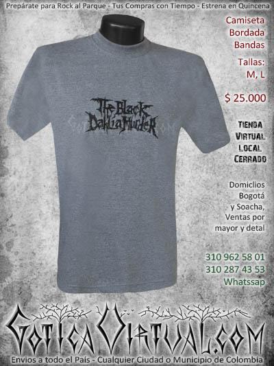 camiseta blackdahliamurder hombre bordada negra venta online domicilios bogota envios colombia