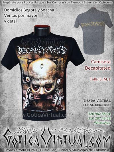 camiseta decapitated bandas rock al parque venta online domicilios bogota y soacha envios colombia