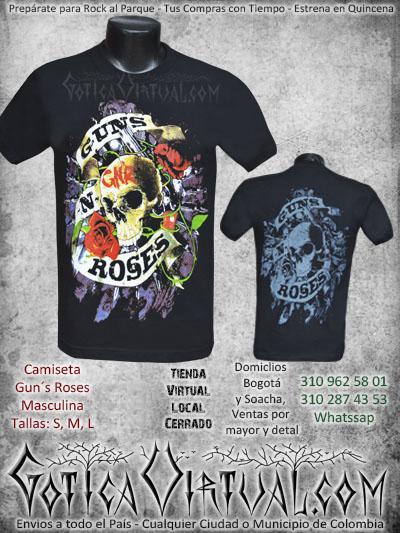 camisetas guns n roses estampada masculina venta online envios colombia bogota domicilios soacha medellin manizales santander pasto cucuta