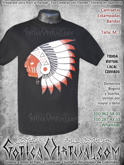 camiseta estampada indio venta online envios armenia tunja medellin colombia