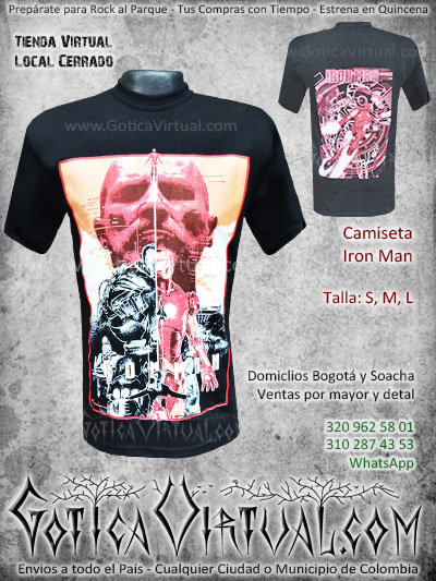 camiseta iron man civil war venta online envios bogota cucuta cauca tunja zipaquira meta armenia colombia