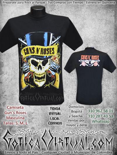 camiseta guns n roses estampada masculina venta online envios colombia domicilios soacha medellin cucuta pasto santander manizales