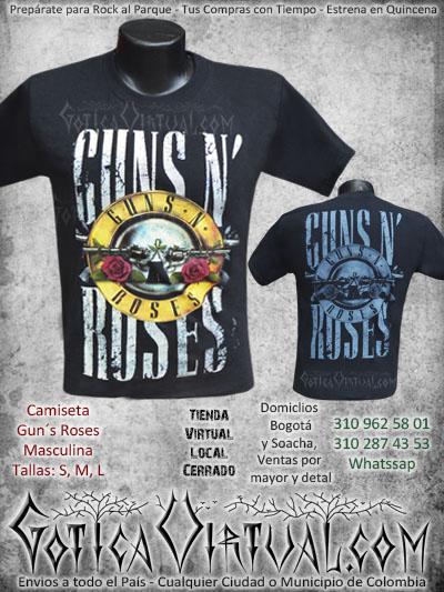 camiseta guns n roses masculina estampada venta online envios colombia domicilios soacha medellin cucuta pasto santander manizales