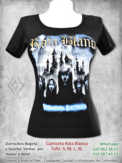 camiseta rata blanca chica estampada bandas rock metal heavy venta online domicilios bogota cali armenia cucuta chica manizales quindio colombia