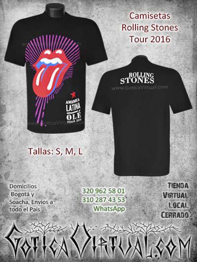 camisetas rolling stones tour 2016 colombia bogota domicilios soacha medellin manizales santander pasto cucuta