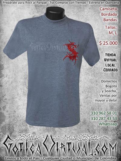 camiseta sepultura hombre bordada negra venta online domicilios bogota envios colombia
