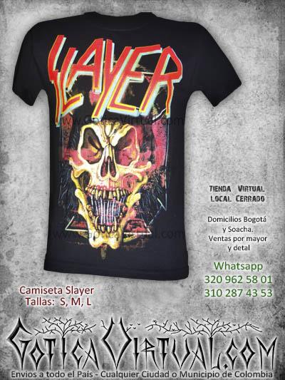 camiseta slayer bandas concierto bogota 2017 venta online tienda rock metal boutique bogota colombia