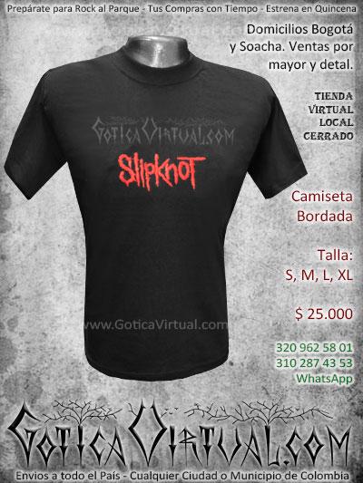 camiseta slipknot banda masculina estampada economica venta online envios bogota medellin quindio bucaramanga cucuta pereira zipaquira colombia