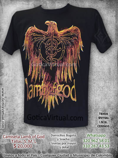 camisetas lamb of god bogota rock al parque 2017 online negras mayorista fabrica estampadas bandas neo rock metal gore colombia metalcore