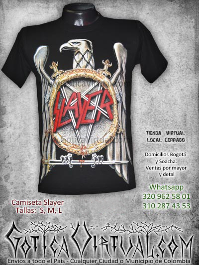 camiseta slayer tienda online rock metal bogota cucuta neiva pasto huila quindio sucre bolivar colombia