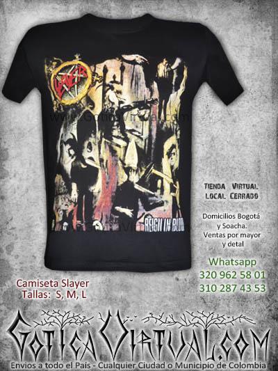 tienda online rock metal camiseta slayer masculina chico tienda online rock metal bogota mosquera quindio pasto colombia