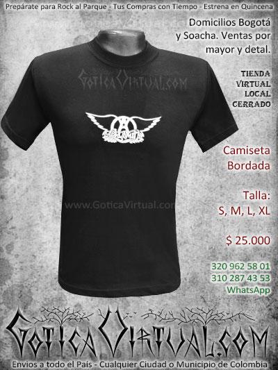 camiseta aerosmith banda masculina estampada economica venta online envios bogota medellin quindio bucaramanga cucuta pereira zipaquira colombia