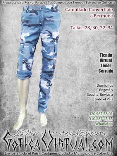 camuflado convertible bermuda bogota masculino bodega ventas online envios a todo el pais cali medellin cauca cucuta neiva tunja cartagena colombia