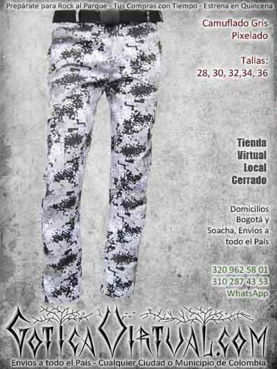 camuflado gris pixelado pantalon economico masculino hombre bodega ventas online envios a todo el pais valle del cauca pereira medellin tunja quindio colombia