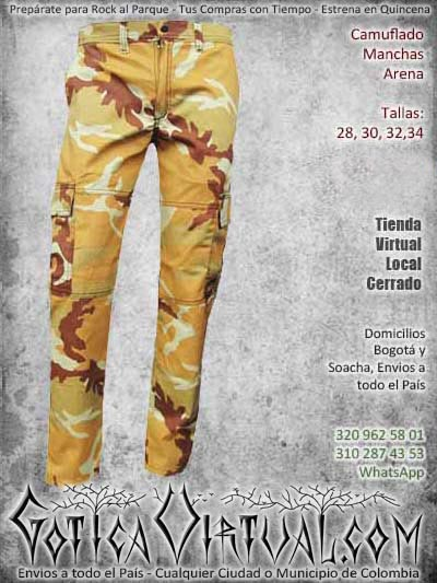 camuflado manchas pantalon arena bodega masculino barato economico ventas online envios a todo el pais cucuta cauca meta cartagena manizales medellin neiva colombia