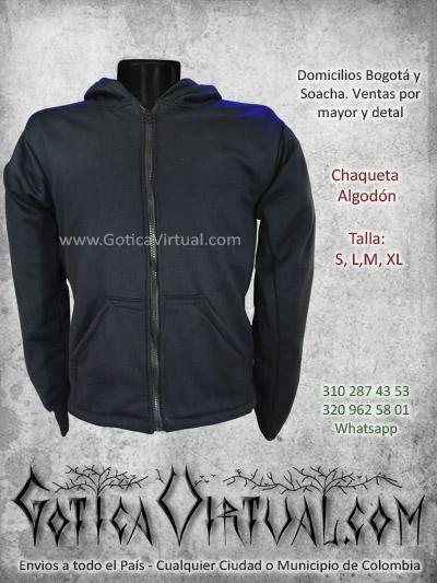 chaqueta algodon perchado negra masculina venta online domicilios bogota tunja cesar caldas colombia tienda online rock metal