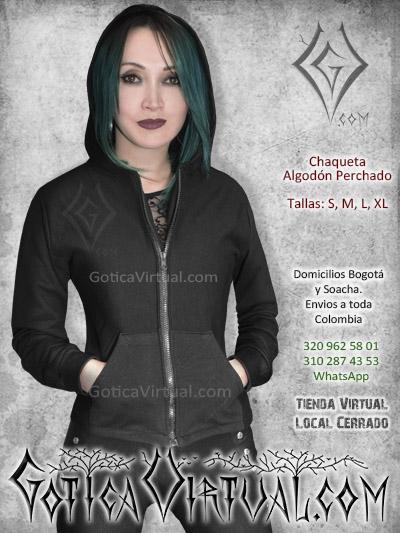 Chaqueta negra algodon perchado bogota soacha medellin manizales pereira tienda gotica cartagena