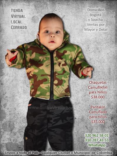 chaqueta camuflada pantalos tienda online ninos bebes infantil bogota  manizales armenia tunja cali cucuta villavicencio colombia d2ea8db60e72