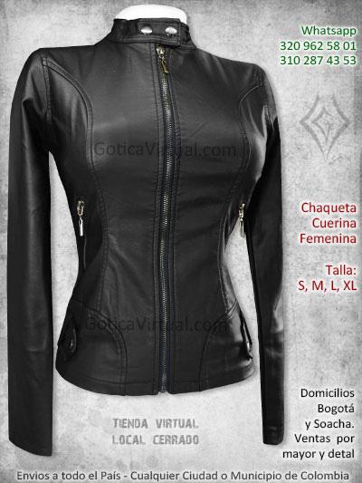 chaqueta cuerina femenina chicas rock metal boutique bogota soacha medellin sincelejo duitama bucaramanga madelena colombia