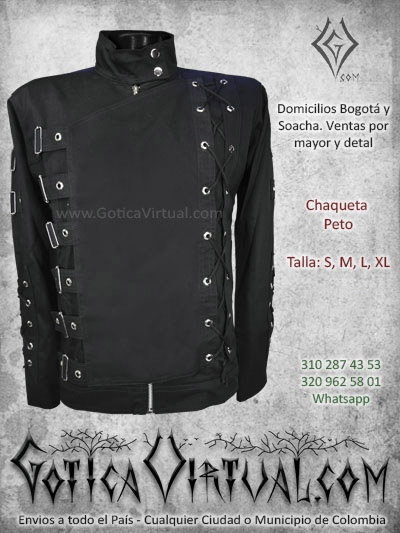 chaqueta drill peto negro masculina venta online domicilios bogota caldas cesar pereira chia colombia