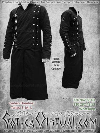 chaquetas gabanes aros negro rockero matelero bogota hombre masculino ventas online envios todo el pais cali
